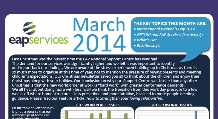 EAP Services' e-Flyer March 2014