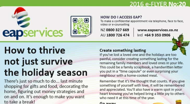 EAP Services' e-Flyer No. 20